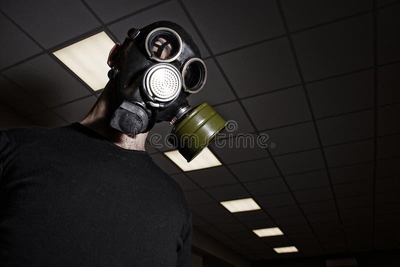 气体人屏蔽办公室空间佩带 免版税库存照片