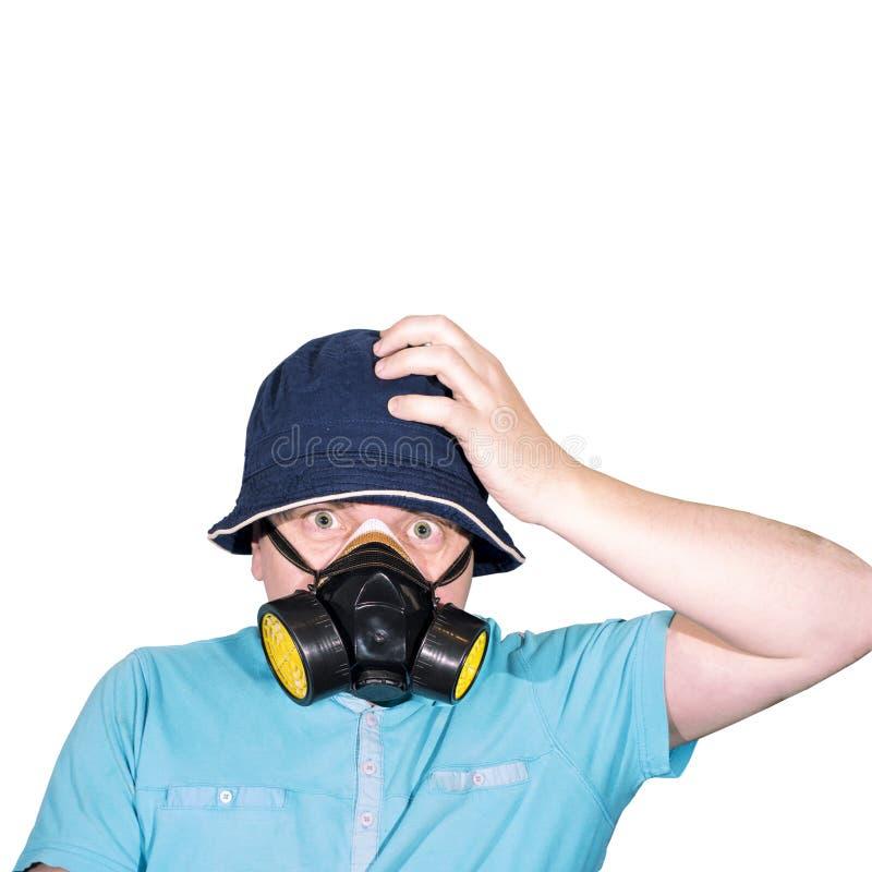气体人屏蔽 抽象照片 免版税图库摄影
