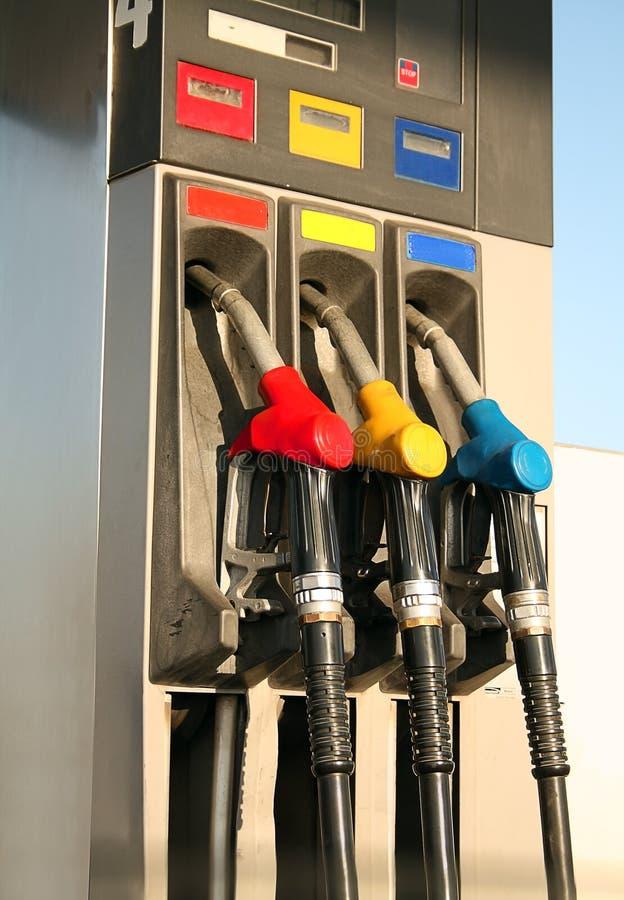 气体加油泵岗位 免版税图库摄影