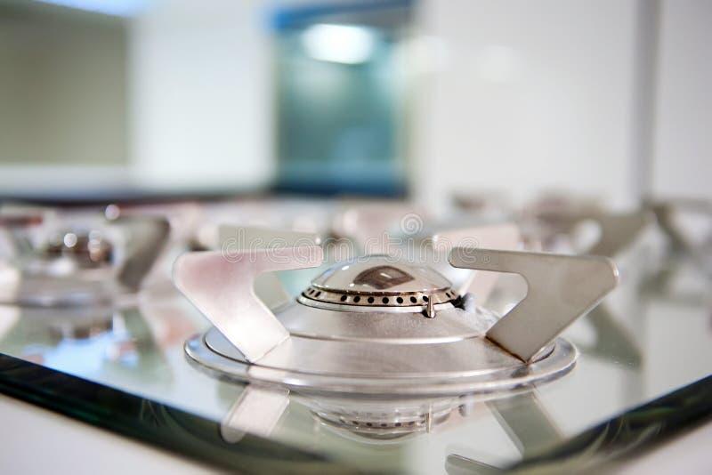气体厨房环形火炉 免版税库存照片
