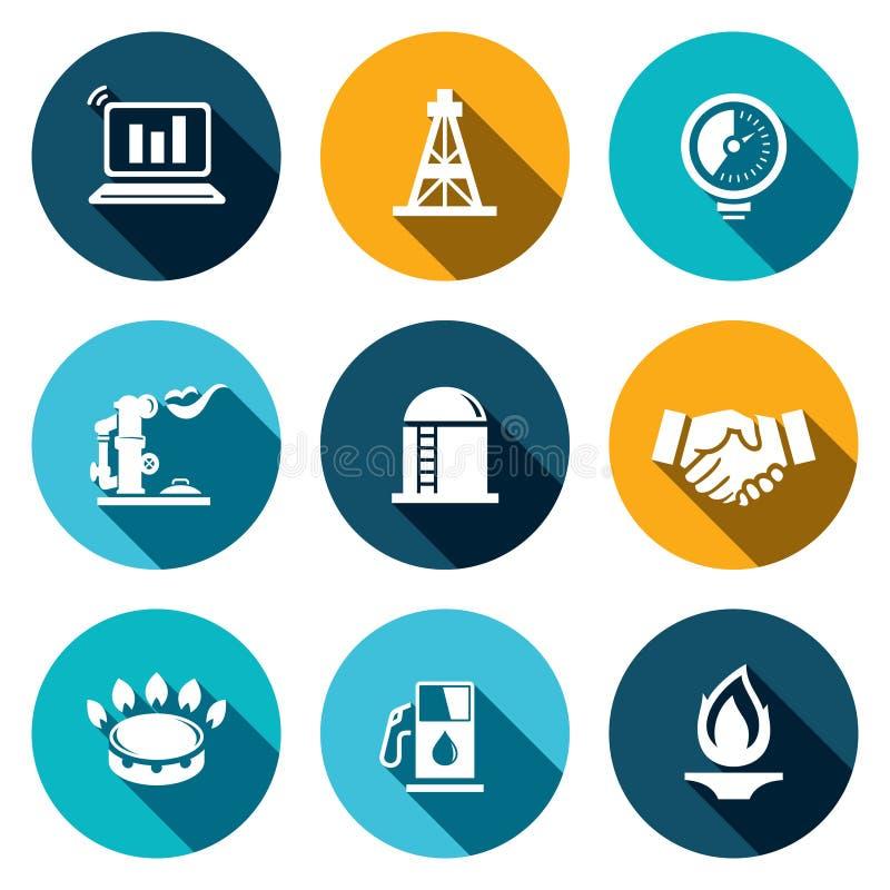 气体商业象集合 向量例证