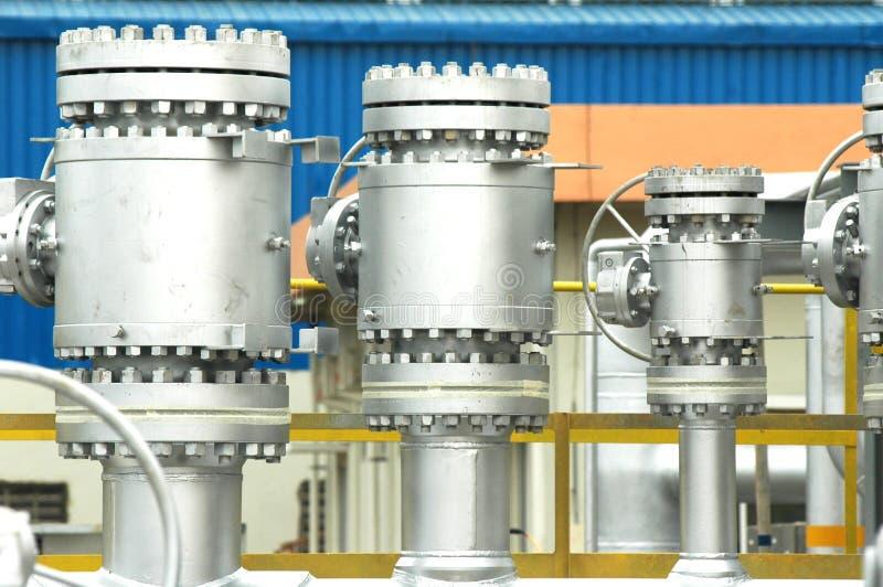 气体安装精炼厂 免版税库存照片