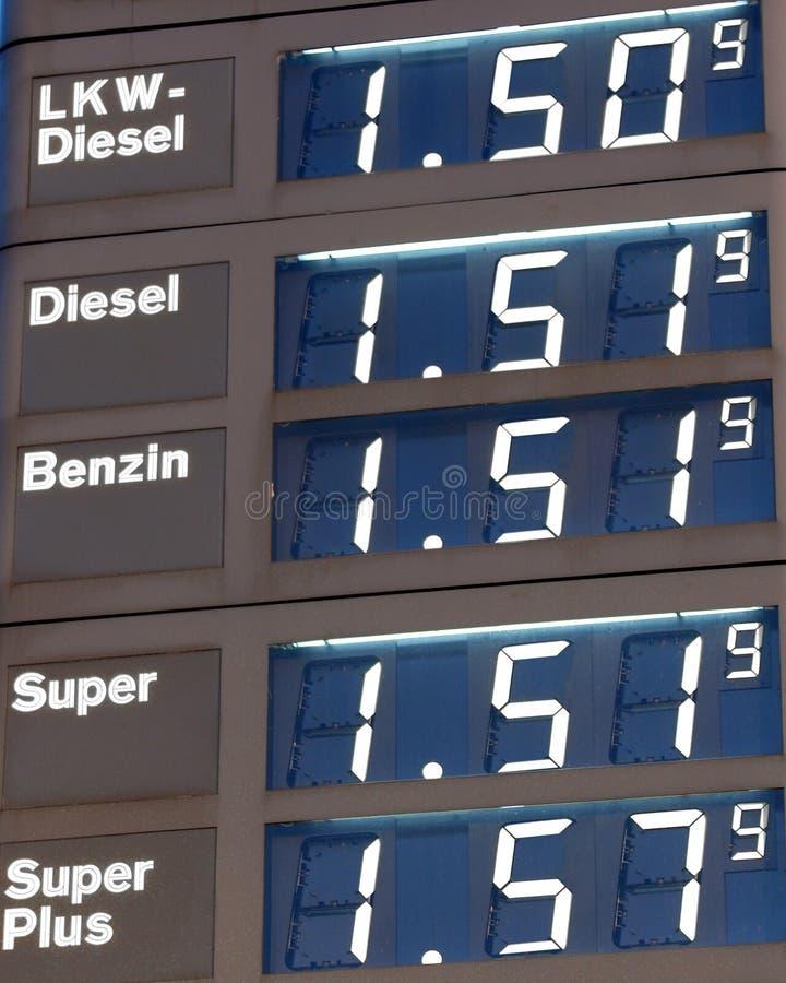 气体德国人价格 免版税库存照片