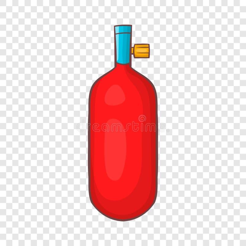 气体手榴弹象,动画片样式 向量例证