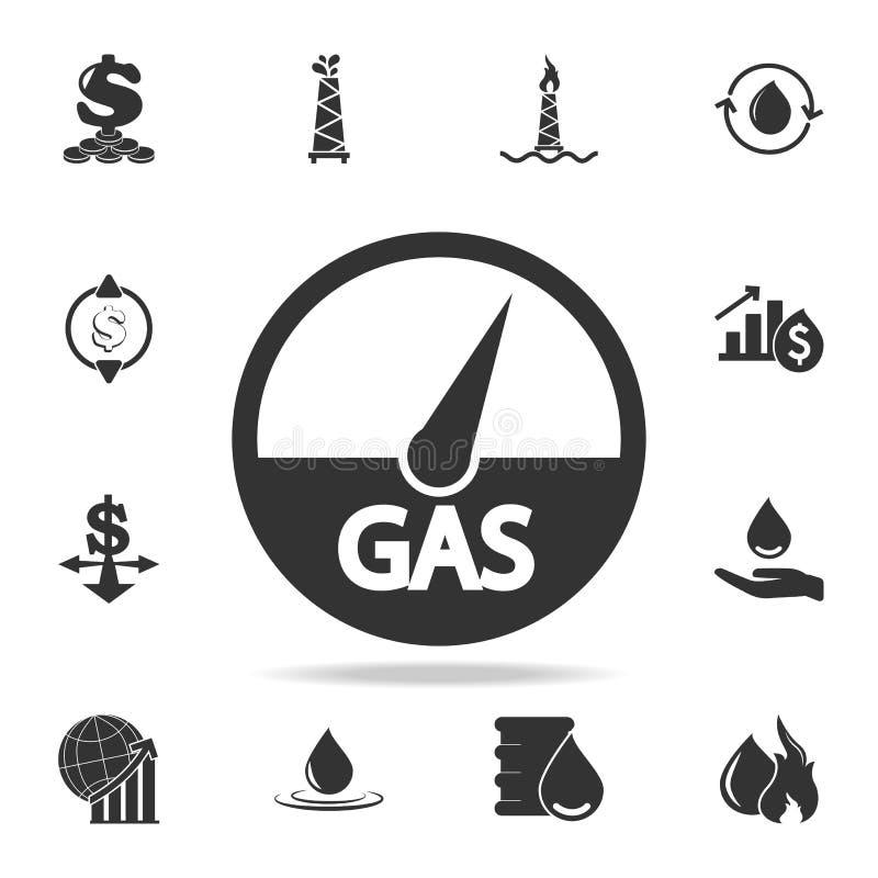 气体显示象 详细的套财务、银行业务和赢利元素象 优质质量图形设计 一收集 皇族释放例证