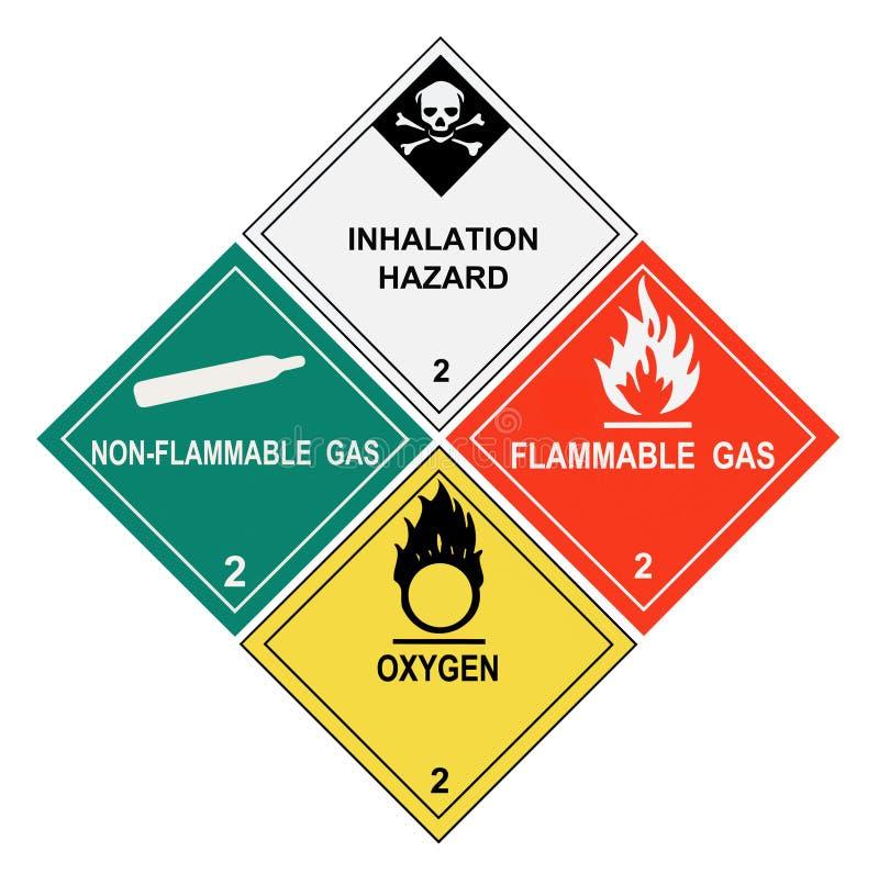 气体标签警告 免版税库存照片