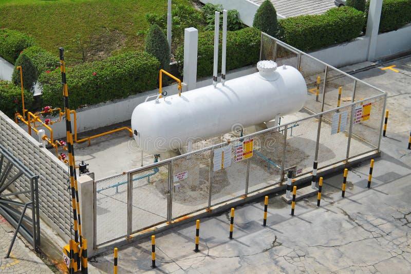 气体液体lpg石油存储单元 库存图片