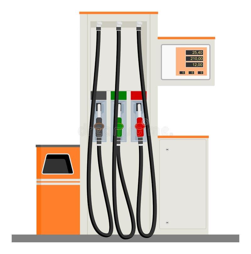 气体现代泵 向量例证