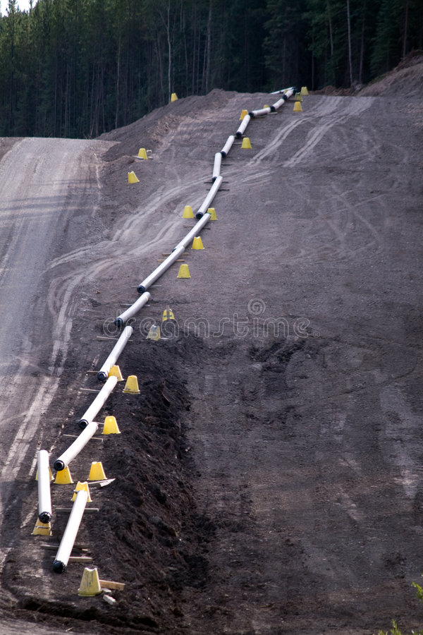 气体管道黄色 免版税库存图片
