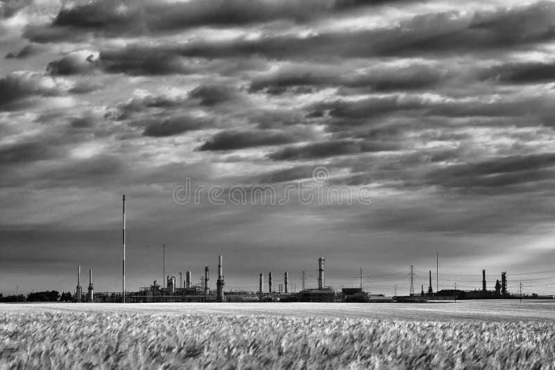 气体精炼厂加拿大人大草原 库存照片