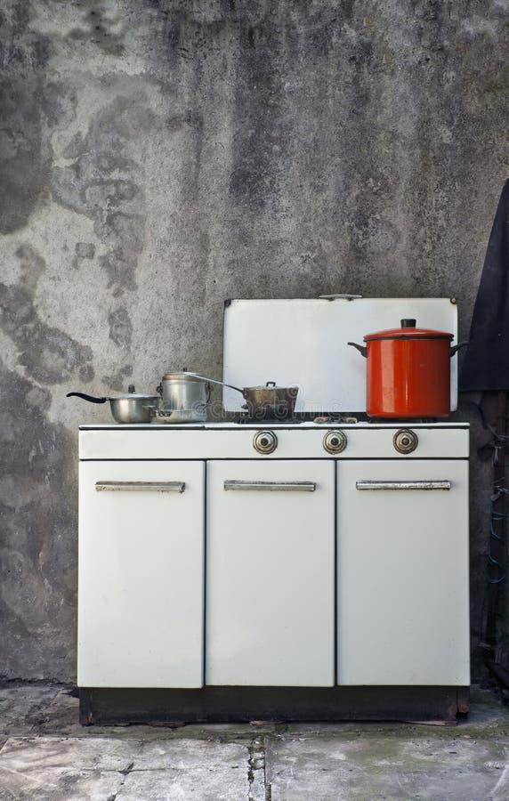 气体老火炉 免版税库存照片