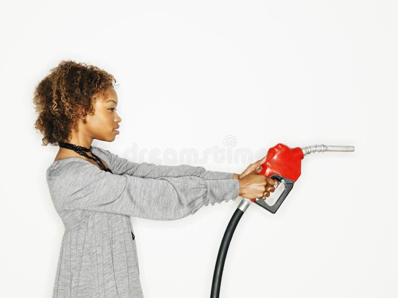气体自动枪藏品妇女 图库摄影