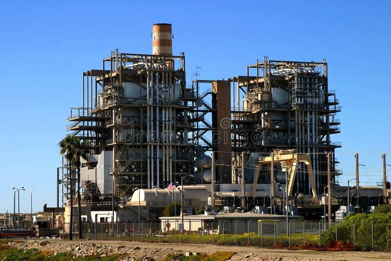气体自然工厂次幂 库存照片