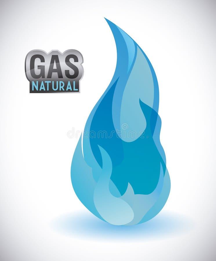气体自然设计 向量例证