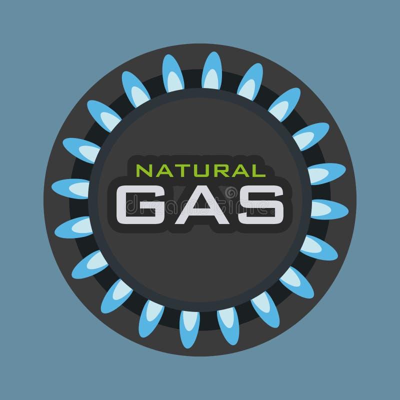 气体自然设计 皇族释放例证