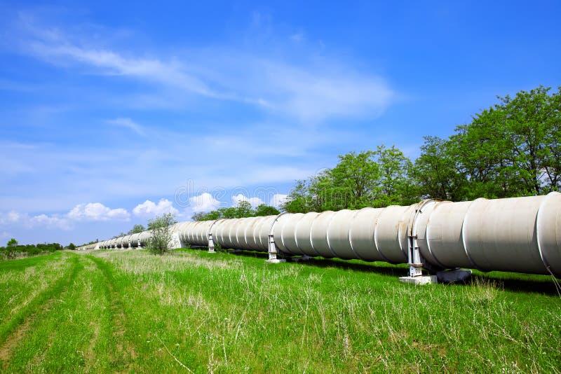 气体行业油管 库存照片