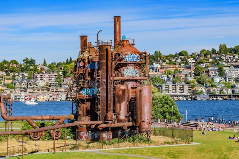 气体运作公园西雅图 库存图片