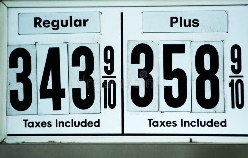气体高价符号 免版税库存图片