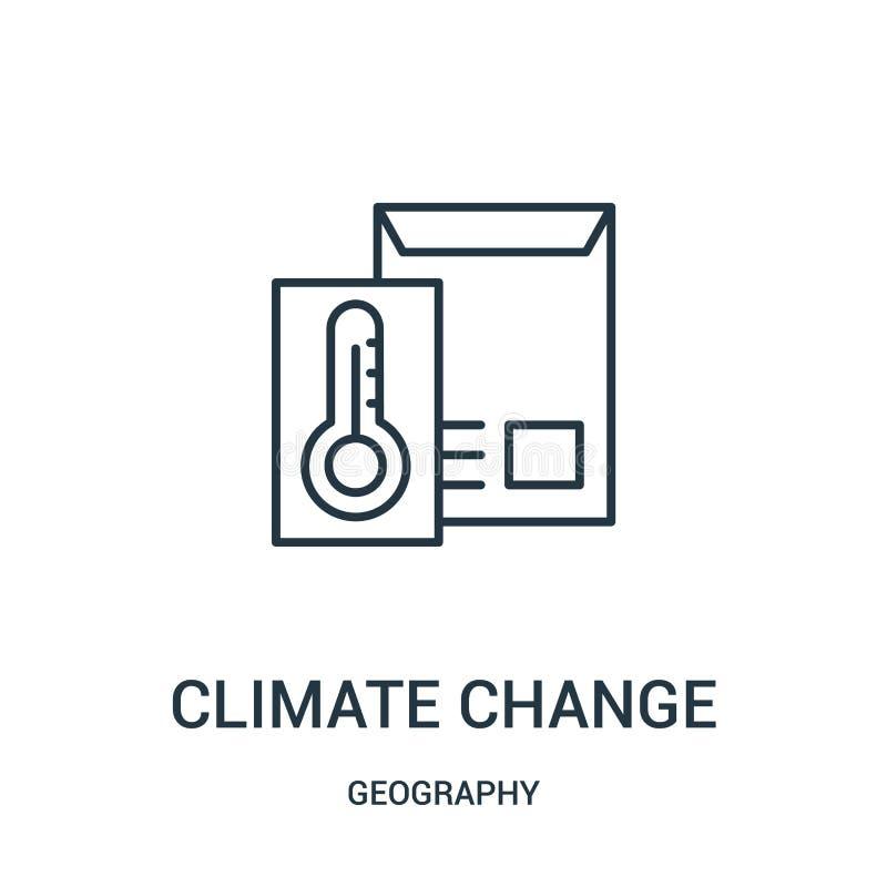 气候变化从地理汇集的象传染媒介 稀薄的线气候变化概述象传染媒介例证 皇族释放例证