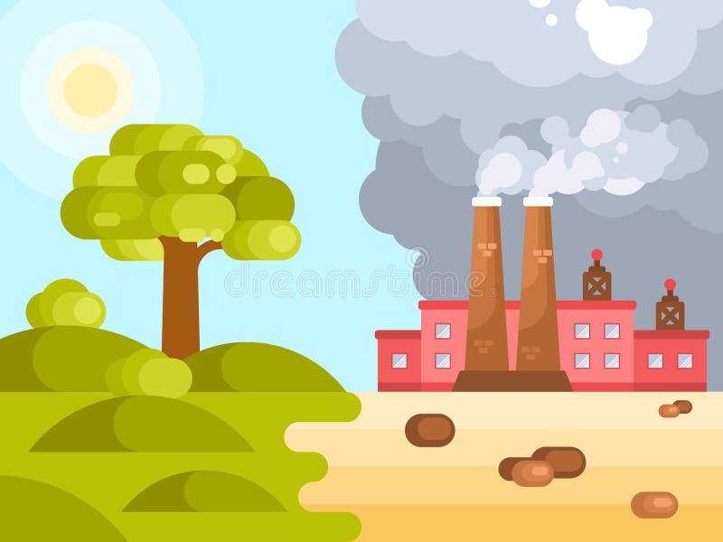 气候变化全球性变暖 库存例证