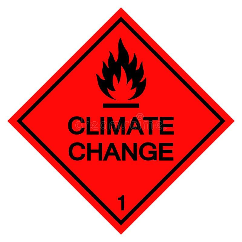 气候变化标志在白色背景,传染媒介例证EPS的标志孤立 10 向量例证