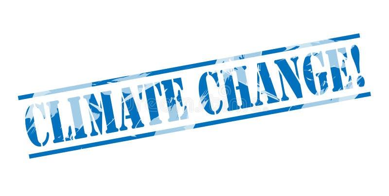 气候变化蓝色邮票 向量例证