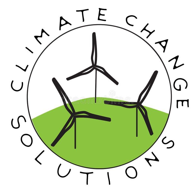 气候变化风 库存例证