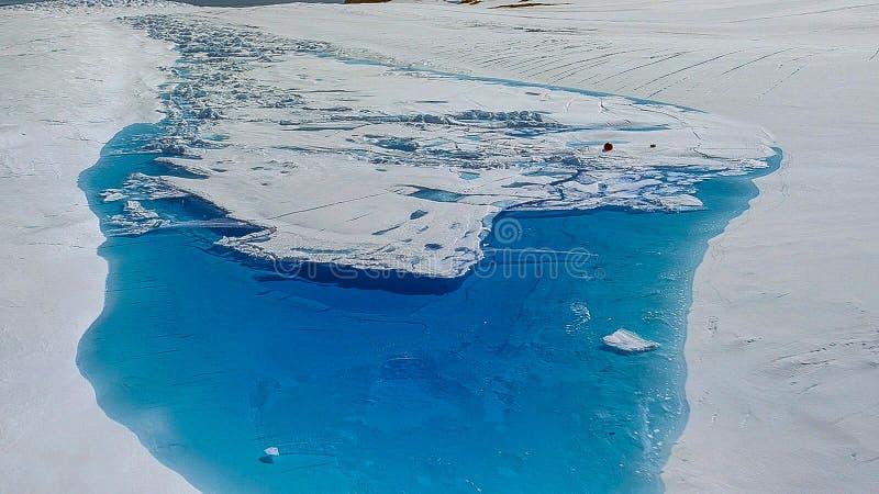 气候变化-南极融化冰河 库存照片
