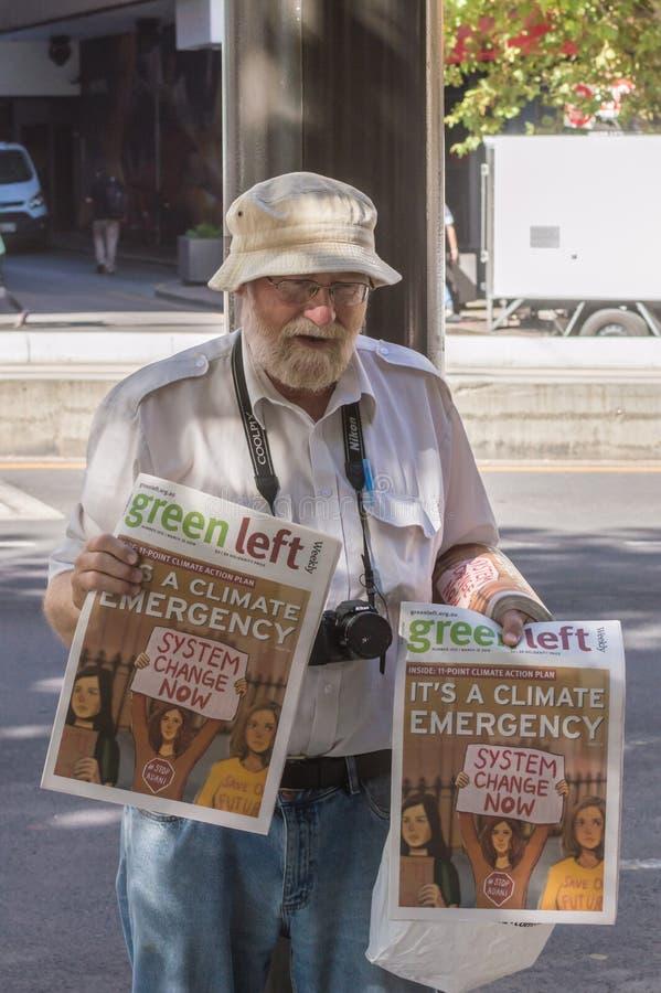 气候变化- 2019年3月Ides  免版税库存照片