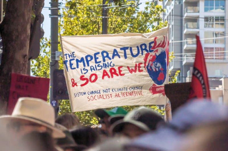 气候变化- 2019年3月Ides  免版税库存图片