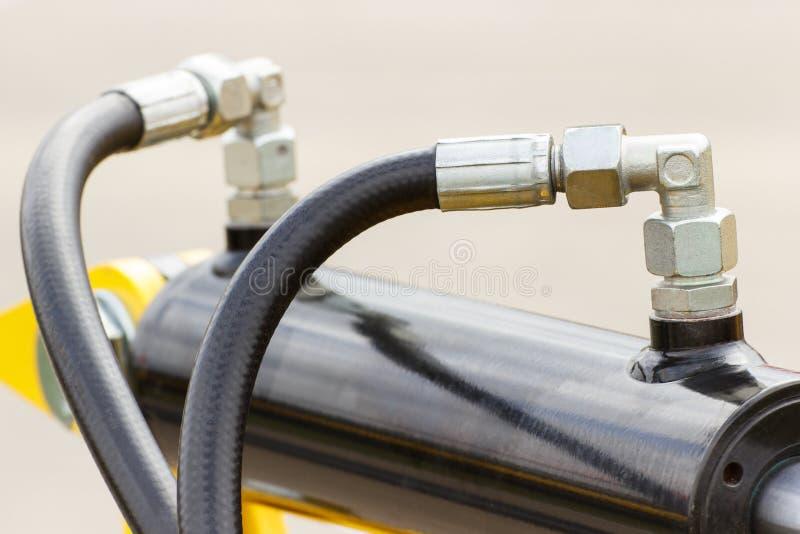 气动力学或水力机械细节,一部分的活塞或作动器 库存图片