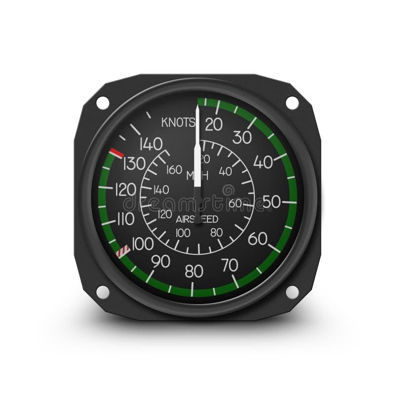 气动测微仪直升机指示符速度 皇族释放例证