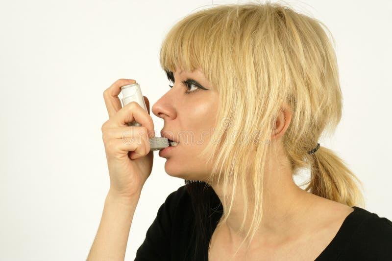 气喘 库存图片