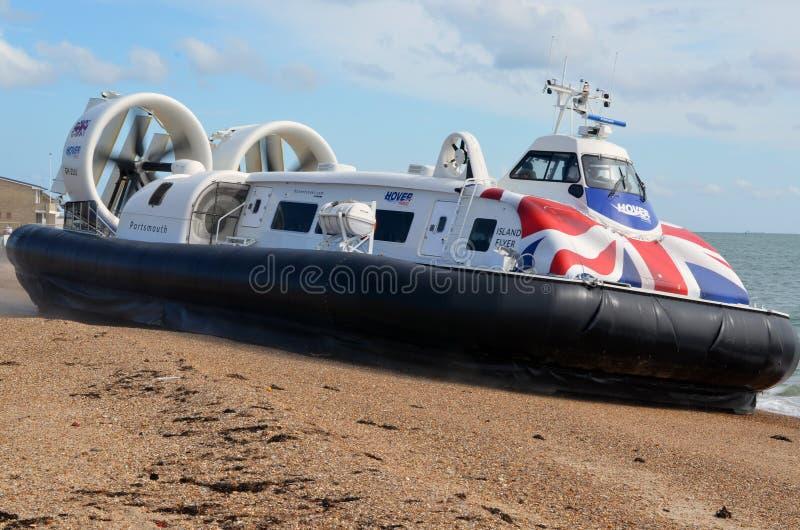 气垫船,海岛飞行物,南海城,对Ryde的机上通话管 库存图片