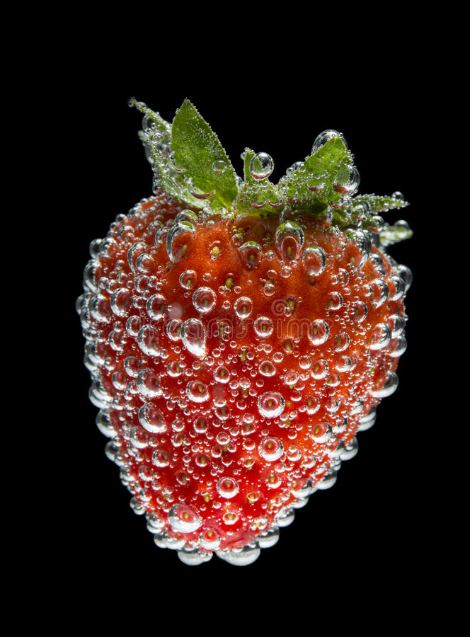 气泡草莓 库存图片