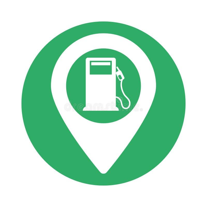气泵绿色信号近 皇族释放例证