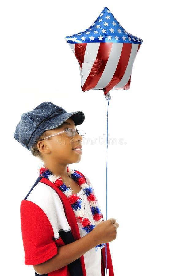 气球举行爱国者 免版税库存照片