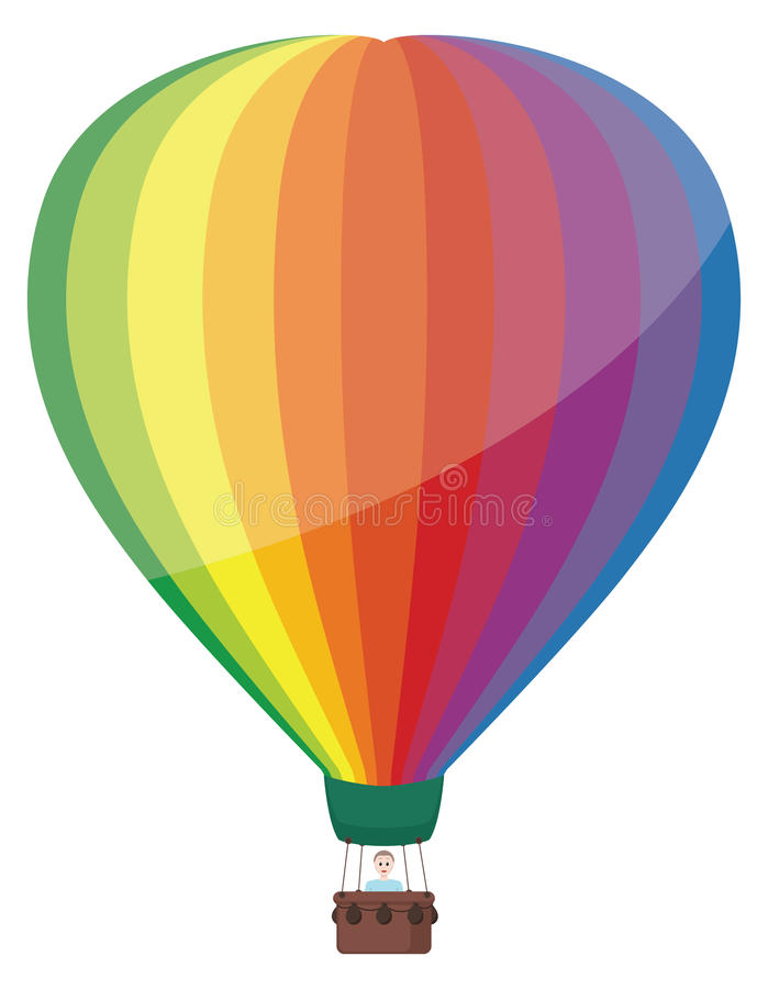 气球五颜六色热 向量例证