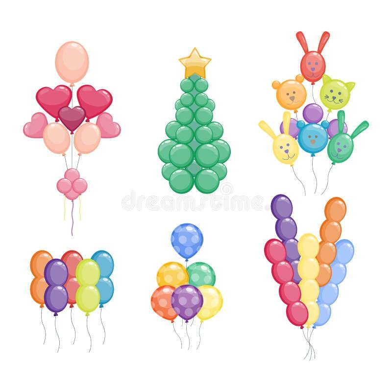 气球传染媒介例证 库存例证
