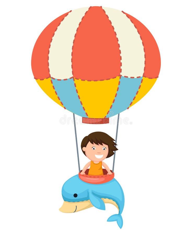 气球传染媒介的孩子 向量例证