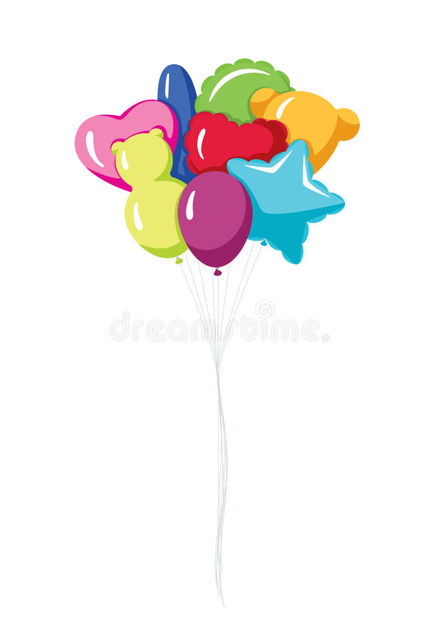 气球党 向量例证