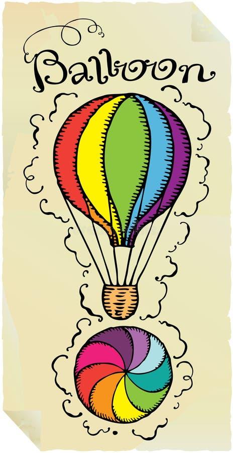气球印刷术 皇族释放例证