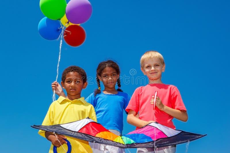 气球和风筝 库存图片