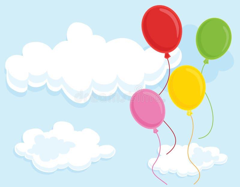 气球四 向量例证