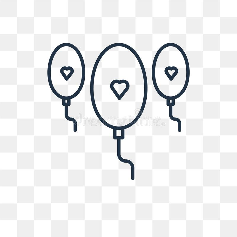 气球在透明背景隔绝的传染媒介象,B线 皇族释放例证