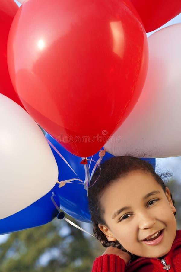 气球我爱我 库存图片
