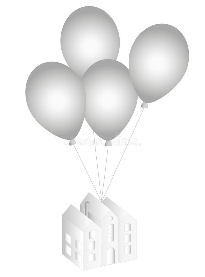 气球房子 皇族释放例证