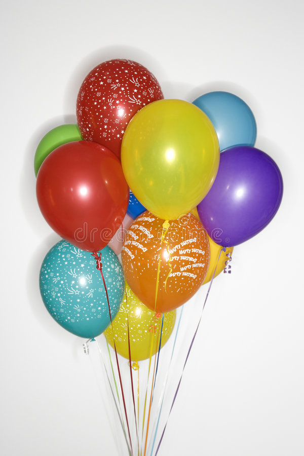 气球捆成一束上色 图库摄影
