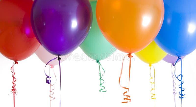 气球明亮地结束被打开的种类 免版税库存照片