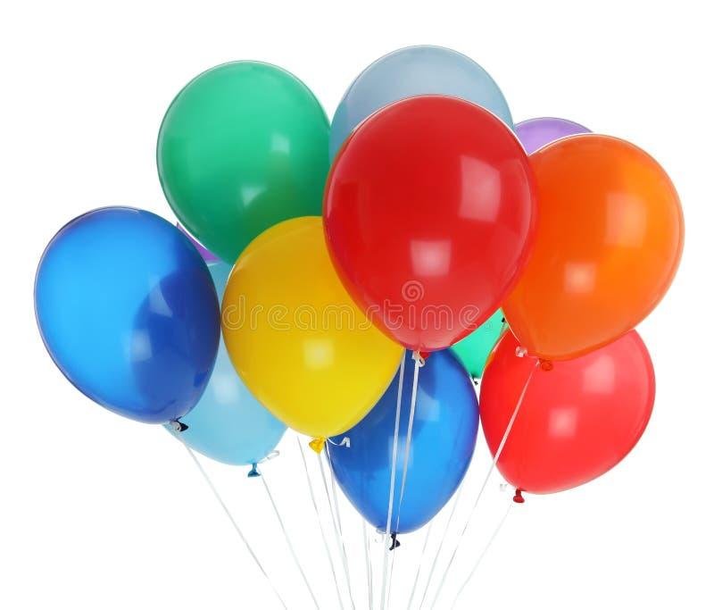 气球束起五颜六色 库存图片